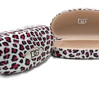 Red Leopard DG Eyewear Designer Fashion Sunglass Case Clamshell Hardcase