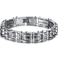 Great Deal New Arrival Shiny Awesome Stylish Gift Hot Sale Men Titanium Gifts Accessory Diamonds Bracelet [10783257347]