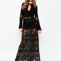 Stevie May San Antonio Long Sleeve Maxi Dress in Black