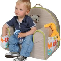 Candide Baby Group Toddler Padded Arm Chair with Spare Blanket- Beige