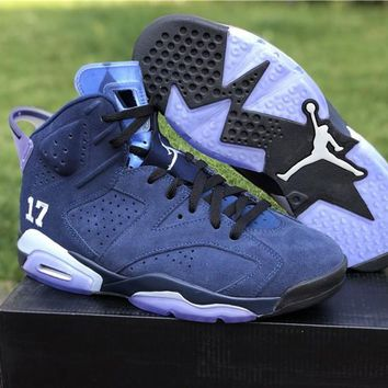 Air Jordan 6 Unc Championship Pe Alternate Navy Blue Suede/carolina Blue - Beauty Ticks