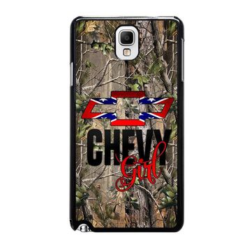 CAMO BROWNING REBEL CHEVY GIRL Samsung Galaxy Note 3 Case Cover