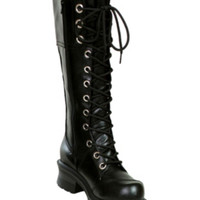 Black Overlay Pole Climber Boot