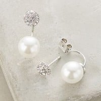 Swept Pearl Earrings by Anthropologie in Pearl Size: One Size Earrings