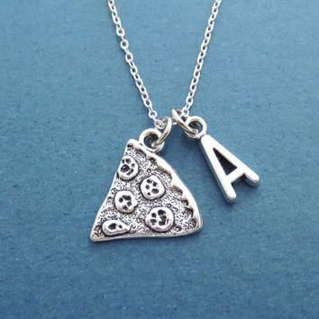 Personalized, Letter, Initial, Pizza, Necklace, Slice, Pizza, Jewelry, Yummy, Supreme,