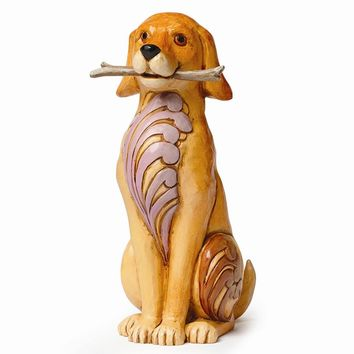 Jim Shore Dog With Stick Figurine