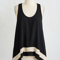 Mid-length Sleeveless Sweet Crepe Escape Top