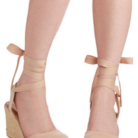 ModCloth Summer Ease Wedge in Sand