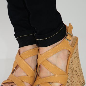 In The Clouds Wedges: Tan
