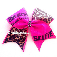 But first let me take a SELFIE bow Cheer Bow