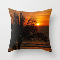 Another Beautiful Sunset Throw Pillow by Lanis Rossi Exquisite Photography
