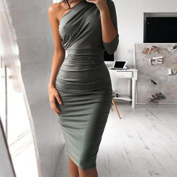 Grecia Fitted Midi Dress