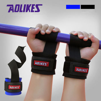 New Weight Lifting Training Gym Straps Hand Bar Wrist Support Gloves Wrap Cotton