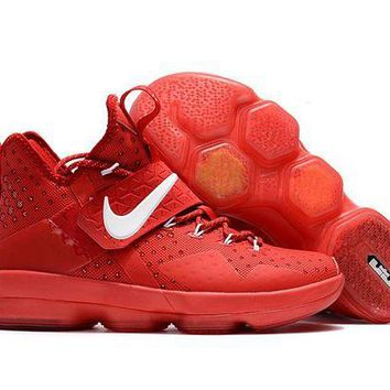 ONETOW VAWA Nike Air Zoom Men's Lebron 14 Basketball Shoes All Red
