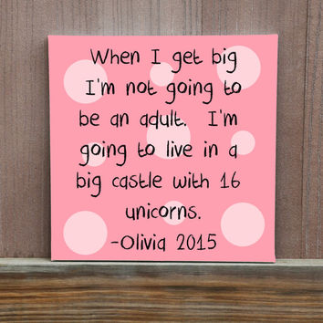 Customized Kids Quotes Funny Things Kids Say Personalized Quotes For Your Kids Hand Painted Canvas Painting