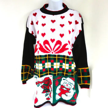 Tacky Christmas Sweater from Nutcracker Large 1980s