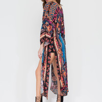 Playing With Patterns Slit Kimono