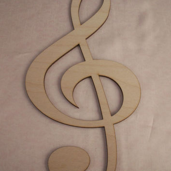 Music Note,Clef Note, Laser Cut Outs,Unfinished Wood,Christmas Decorations,Holiday Home Decor,Wreath Decor,Christmas Ornaments,Wood Shapes