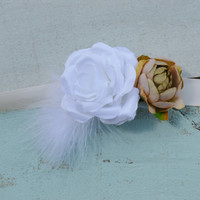 Champagne/ Brown Sash/ Wedding sash/ Flower girls/ Pageants