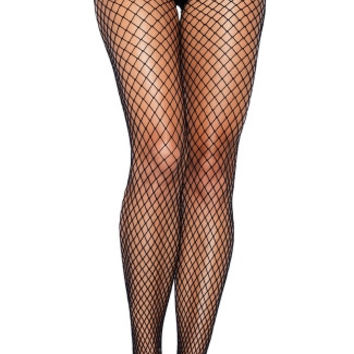 Net Pantyhose with Lace Cage Panty