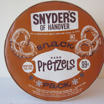 Vintage Box of Pretzels Snyder's of Hanover Hard Pretzels Snack Pack Paper Ephemera