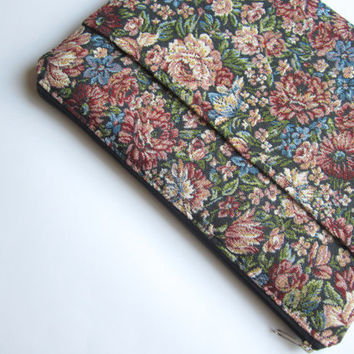 Floral MacBook 13 sleeve with pockets, MacBook Pro 13 sleeve, MacBook Air 13 Case, MacBook Pro 13 Retina, MacBook Air 11 Case