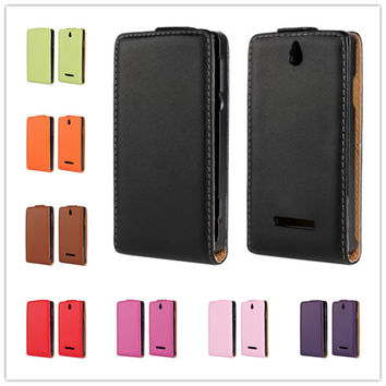 For Sony Xperia E Dual C1605 Case High quality wallet design Magnetic Holster Flip Leather phone Cases Cover Skin B236-A