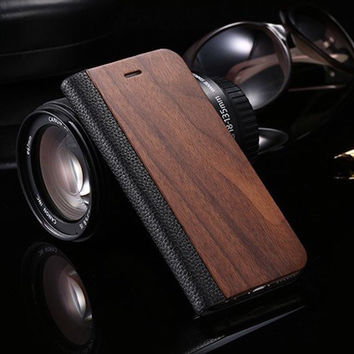 iPhone Natural Rosewood Cover