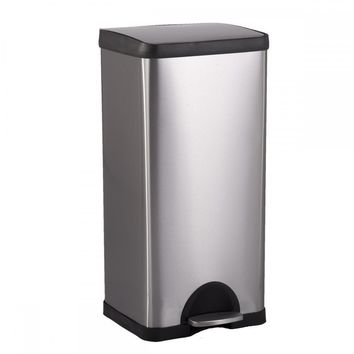 BestOffice 10 Gallon/ 38L Step Stainless-Steel Trash Can Kitchen S38