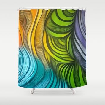CHRISTONS MAZE Shower Curtain by violajohnsonriley