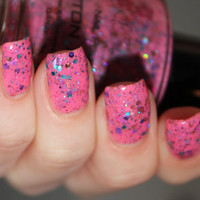 Cotton Candy Nail Polish - The Circus Collection Glitter Nail Polish - 0.5 oz Full Sized Bottle