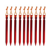 Tent Stakes - Aluminium Alloy with Rope Camping