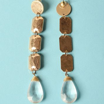 Faux Crystal Chandelier Drop Earrings