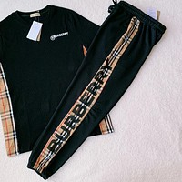 Burberry New Classic Plaid Letter Logo Casual Pants