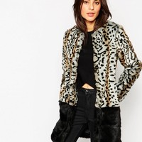 Glamorous | Glamorous Leopard Faux Fur Coat with Border at ASOS