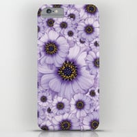 iPhone CASE - iPhone 6 - iPhone6 Plus - iPhone 5 - Slim and Tough options available - Daisies - Lila Floral Pattern Design Case