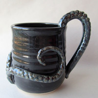 Octopus Tentacle Coffee Mug MADE TO ORDER by wildcardpottery