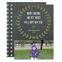 Chalkboard Christmas Photo Card Merry Christmas