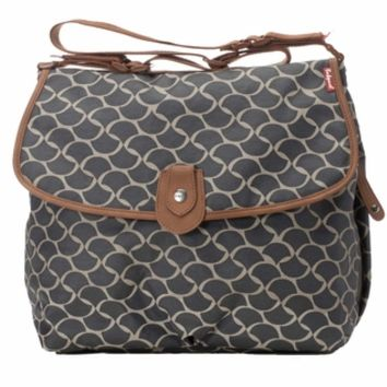 Babymel Satchel Diaper Bag - Wave Elephant Grey