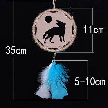 Turquoise Linen Dream Catcher Innovative Hollow Out Cars Home Decor [6281772230]