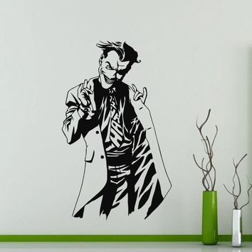 Batman Dark Knight gift Christmas Specialized Joker Whole Pattern Wall Stickers Batman Famous Movie Character Art Wall Decals Home Decorative Vinyl Mural Wm-401 AT_71_6