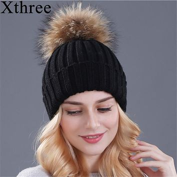Mink and Fox fur ball cap