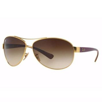 Gotopfashion Ray Ban RB3386 112/13 Sunglasses Gold Violet Frame Brown Gradient Lens 67mm