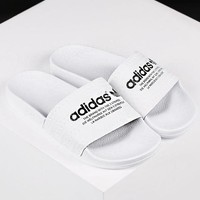 ADIDAS Classic Trending Women Men Casual Simple Sandal Slipper Shoes White I