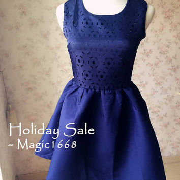 On Sale Navy BLUE COCKTAIL DRESS Mini Short Navy Dress Women Party Dress Slim Petite Party Dresses Perfect Bridesmaid Dress Petite Dresses