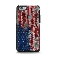 The Grungy American Flag Apple iPhone 6 Otterbox Symmetry Case Skin Set