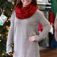 Knit Piko Sweater Tunic Top {Khaki}