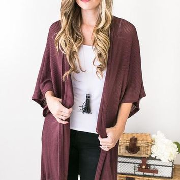 Astrid Open Front Cardigan