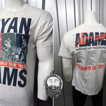 Vintage 1992 Bryan Adams Tour T Shirt Waking Up The World Official Merchandise Band Shirt Rock N Roll Tour Shirt Summer Of 69 90s Tour Shirt