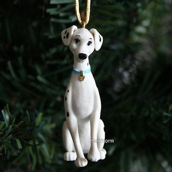 Licensed cool NEW CUSTOM Disney 101 DALMATIANS PERDITA MOM DOG Sitting Christmas Ornament PVC